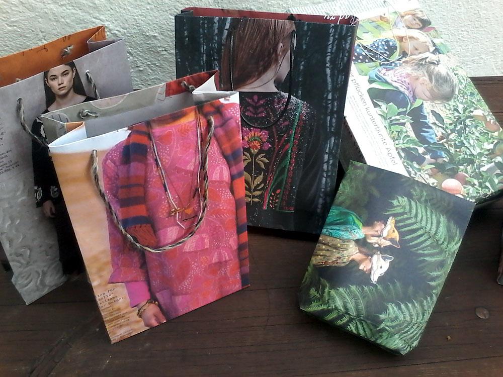 Upcycling-Kurs Geschenktüten und -schachteln